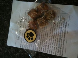 My owner bought me these dog treats....