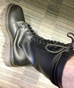 My rubber DMs have arrived! Smell...